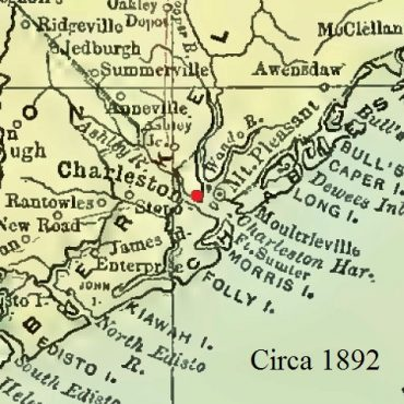 Charleston, South Carolina Map, circa 1892