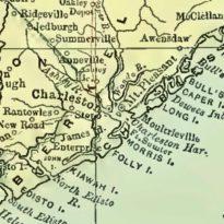 Charleston, South Carolina, Map, circa 1892
